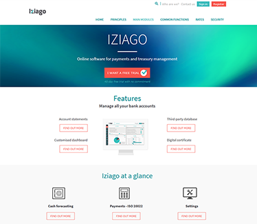 Site commercial Iziago